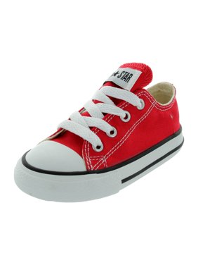 Converse Chuck Taylor All Star Low Top Infants/Toddlers Shoes Red 7j236