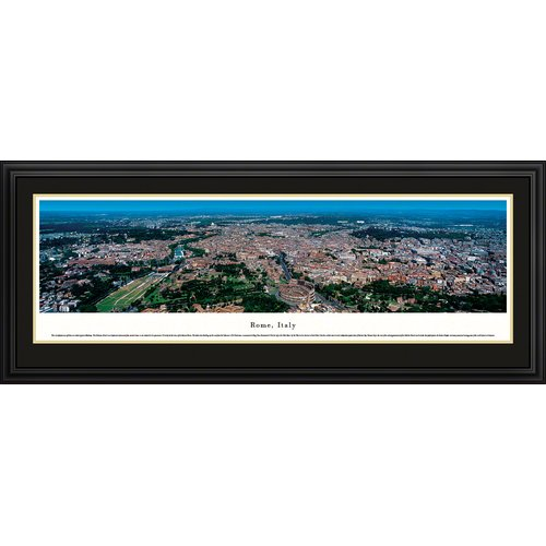 Rome, Italy - Forum - Blakeway Panoramas Print with Deluxe Frame and Double Mat