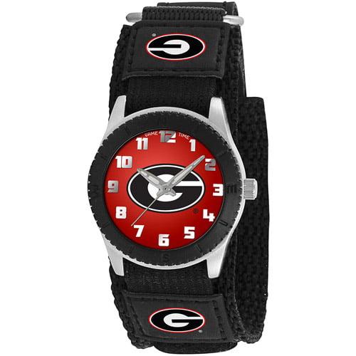 Game Time NCAA Kids' University of Georgia Bulldogs Rookie Series Watch, Black Velcro Strap