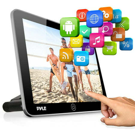 PYLE PLDANDHR1053 - Android Touchscreen Tablet Entertainment Display - Vehicle Headrest Mount Multimedia System with Bluetooth, Wi-Fi & App Download (10.5'' (Best Antivirus App For Android Phone)