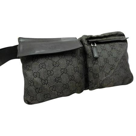 Gucci Charcoal Monogram GG Belt Bag-230352