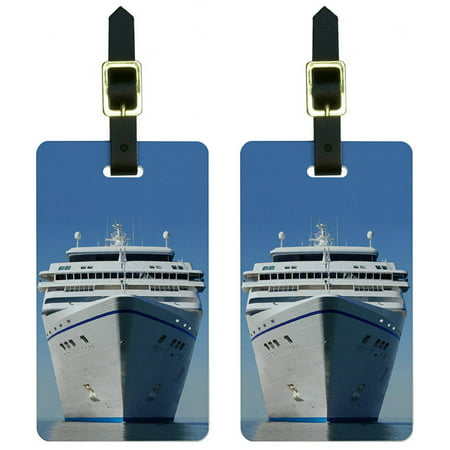 Cruise Ship On Ocean Vacation Luggage Tags Suitcase Carry On Id  Set Of 2