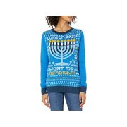 Ugly Christmas Sweater Company Women's Assorted Pullover Xmas, Blue, Size Medium