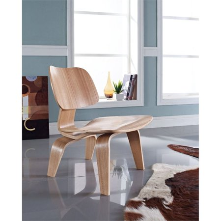 Plywood Lounge Wood Chair in Natural # EEI-510-NAT - image 3 de 4