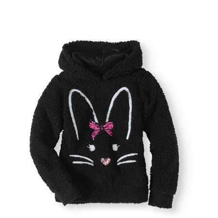 Miss Chievous Sequin Critter Plush Sherpa Hoodie (Little Girls & Big Girls) for $<!---->
