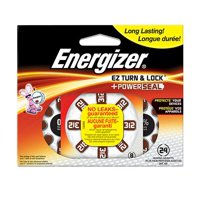 Energizer Hearing Aid Battery Size 312 ZERO-MERCURY, 1.4V, 24 count