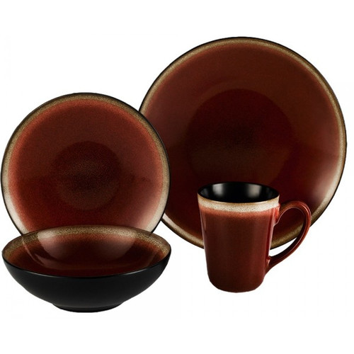 ColorUs China Kabah 16 Piece Dinnerware Set, Service for 4