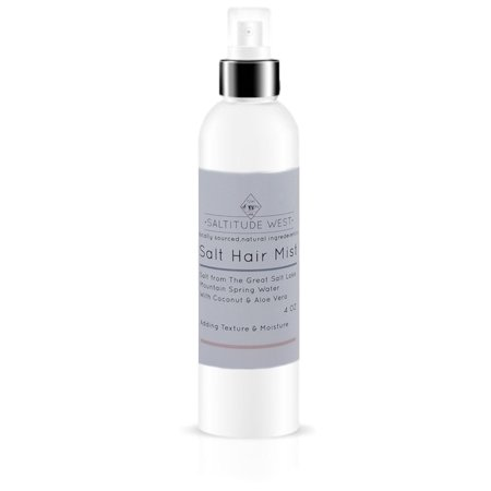 Beach Natural (Salt Hair Mist from Local Natural Utah Ingredients-Mountain Spring Water, Salt from The Great Salt Lake,Coconut Oil & Aloe Vera-Beautiful Beach Style Natural Curls-Moisturize & Texturize )