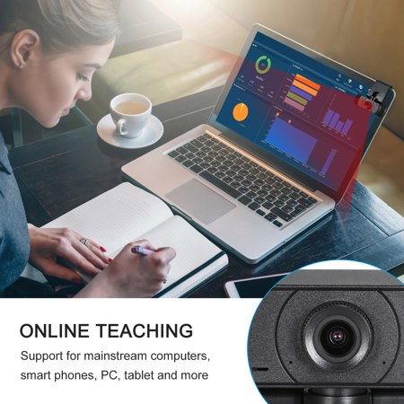 Full HD 1080P Webcam Video Conference Camera USB Webcam with Built-in Microphone Computer Camera for Laptop and Desktop, Support 360 Degrees Up and Down Rotation - image 3 de 7