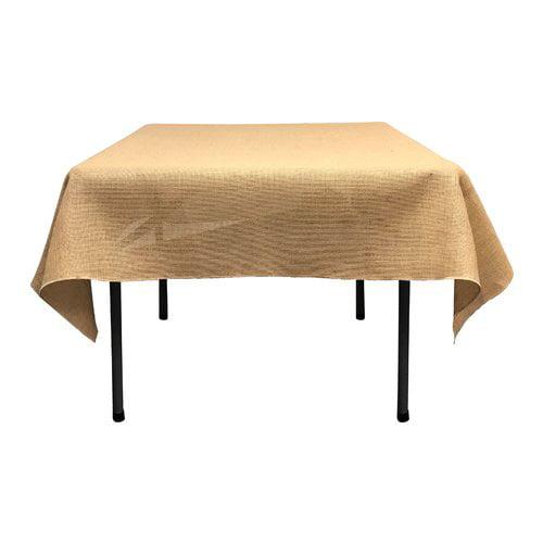 LA Linen Square Burlap Tablecloth by LA Linen