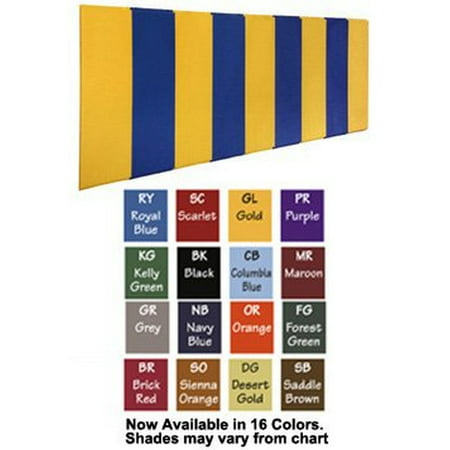 First Team FT456-WB Foam-Vinyl-OSB 2 X 6 ft. BodyGuard Wall Pad with Wood Backing44; Columbia Blue