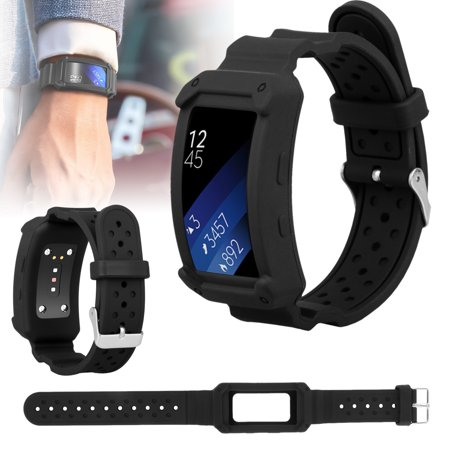 Watch Band, EEEKit 2 in 1 Replacement Silicone Wristband Smartwatch Band Strap + Frame for Samsung Gear Fit 2 / Gear Fit 2