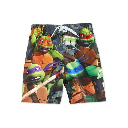 Nickelodeon Boys Teenage Mutant Ninja Turtles Swim Bottom Board (Boys Swim Board Shorts)