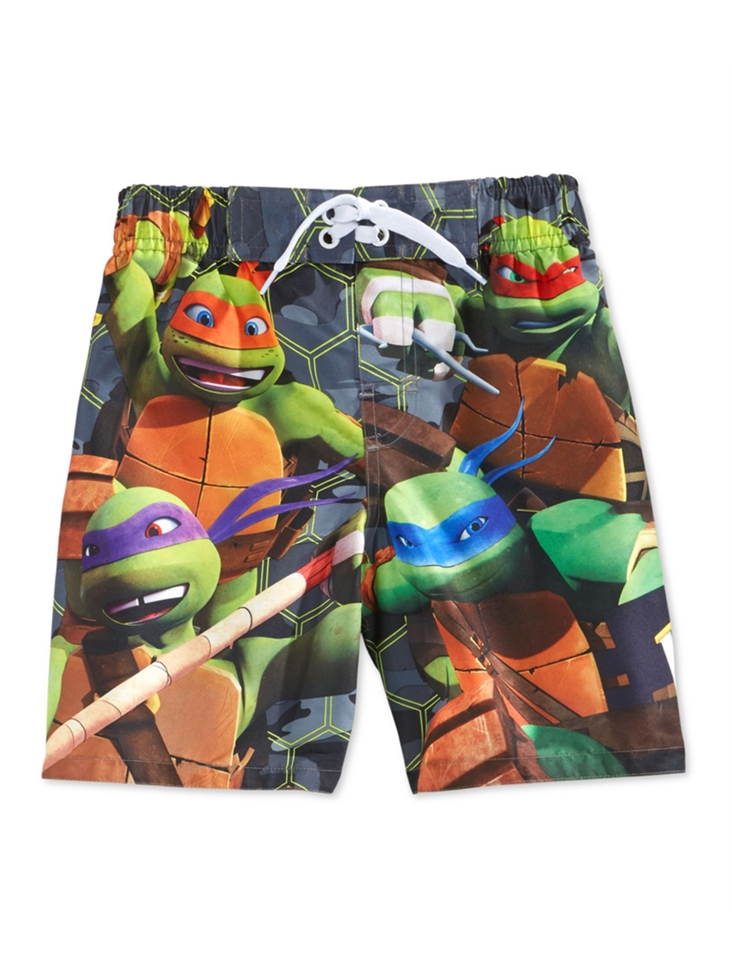 Nickelodeon Boys Teenage Mutant Ninja Turtles Swim Bottom Board Shorts