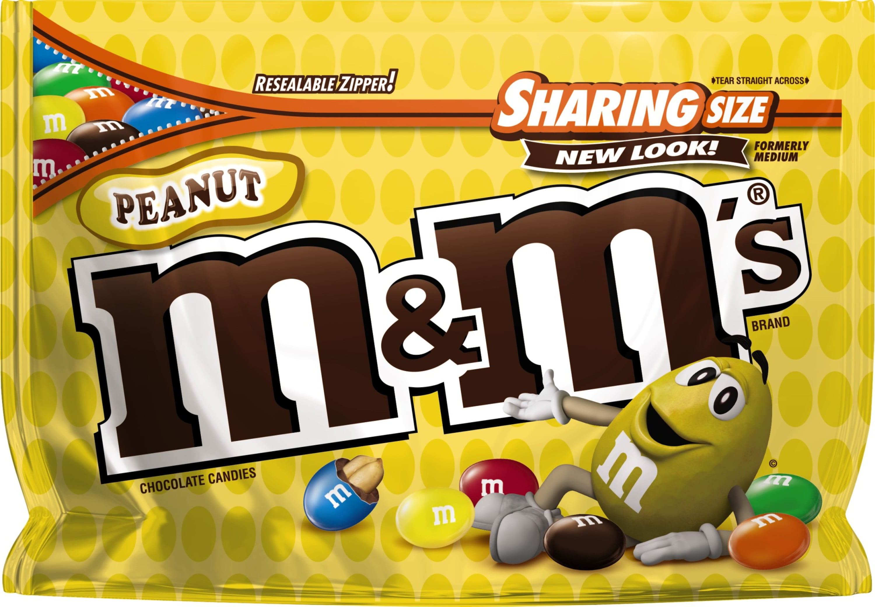 M&M'S Peanut Candy Messages Sharing Size, 10.7 oz. Bag (Packaging Design May Vary)