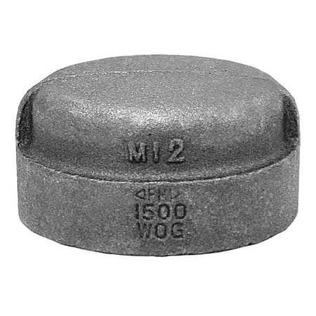 ANVIL Cap,Black Malleable Iron,150,1-1/2 In. 318900685 ()