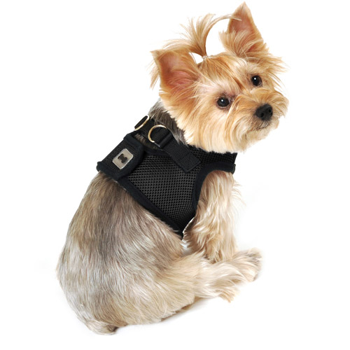 SimplyDog Mesh Dog Body Harness, Black