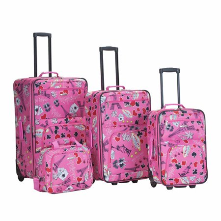 Rockland Luggage 4-Piece Vegas Luggage Set