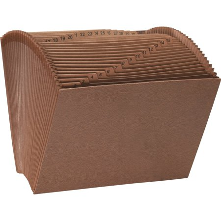 Smead TUFF Expanding File, Daily (1-31), 31 Pockets, Redrope, - Expanding Pocket Letter