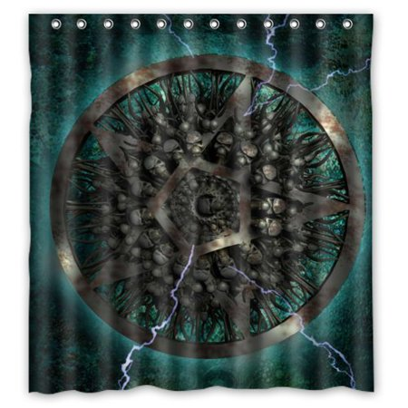 Hellodecor Western Tes Star Shower Curtain Polyester Fabric Bathroom Decorative Curtain Size 66X72 Inches
