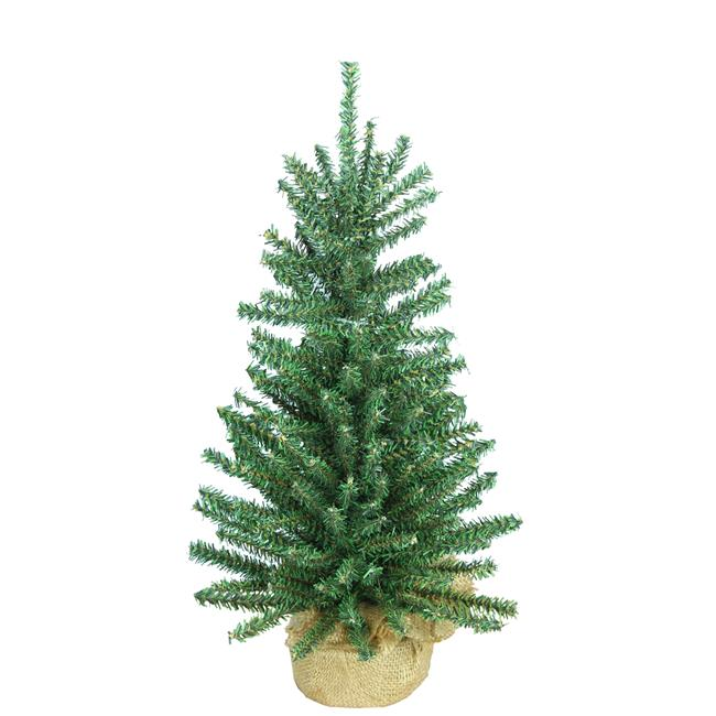 Admired By Nature Gxt3905 Natural 18 In Artificial Mini Christmas Pine Tabletop Tree With Burlap Base