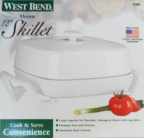 West Bend 72032 12 inch Electric Skillet