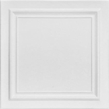 Glue For Styrofoam - Line Art 1.6 ft. x 1.6 ft. Foam Glue-up Ceiling Tile (pack of 8)