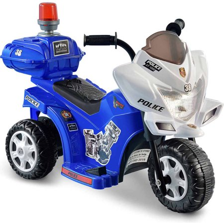 - Kid Motorz Lil' Patrol 6-Volt Battery-Powered Ride-On Motorcycle