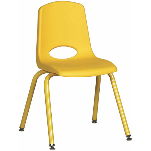 "ECR4Kids 12"" School Stack Chair with Powder Coated Legs/6 pack, Ball Glide"