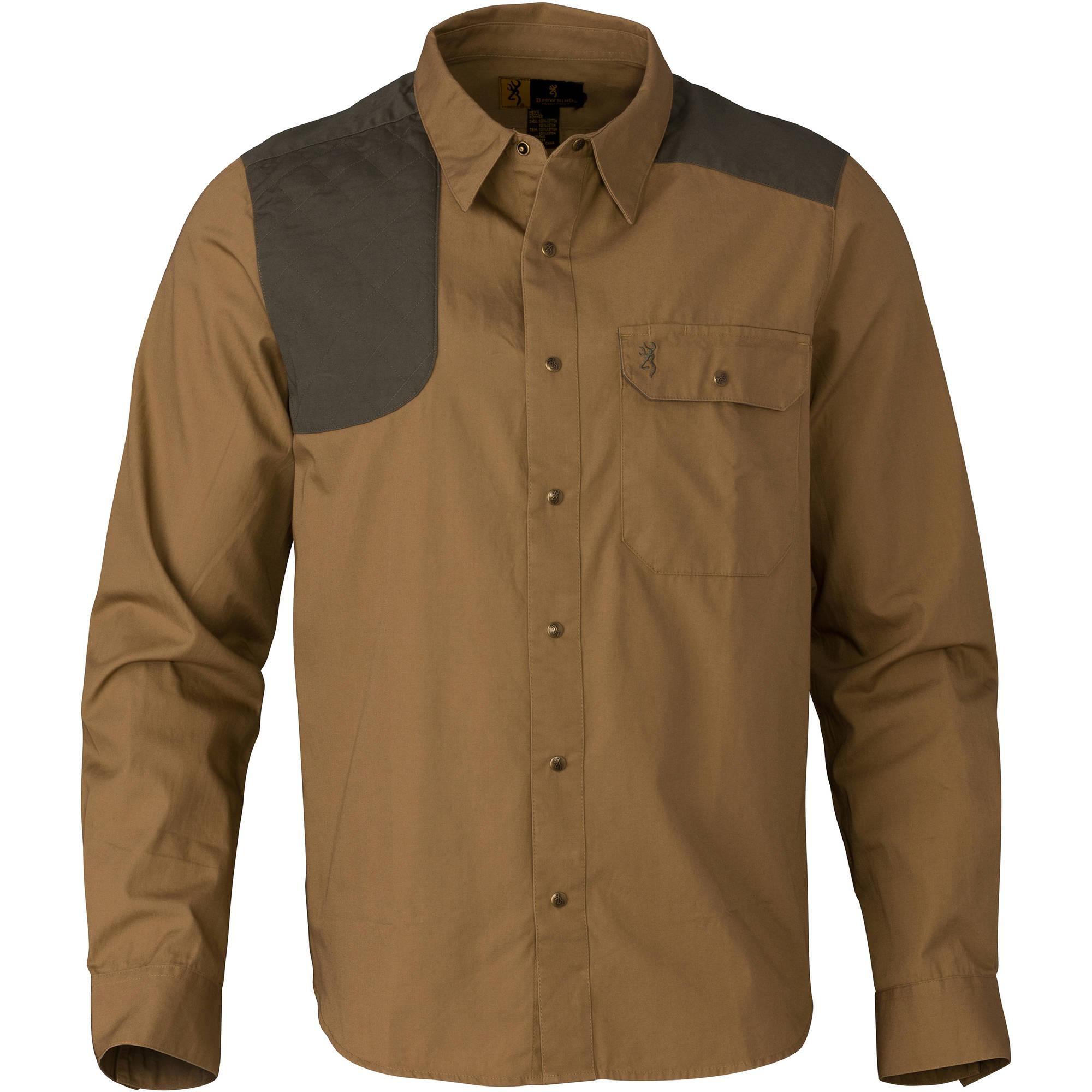 Browning Austin Shooting Shirt, Long Sleeve Taupe/Loden