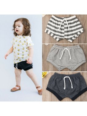 Pudcoco Fashion Toddler Baby Kids Girls Boys Summer Casual Striped Shorts Bottoms Briefs