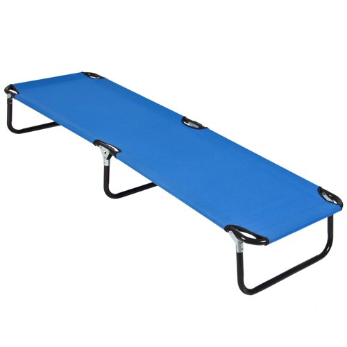Best Choice Products 74in Portable Folding Camping Cot Guest Bed W