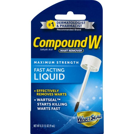 Compound W Maximum Strength Wart Remover Fast Acting Liquid, 0.31 FL