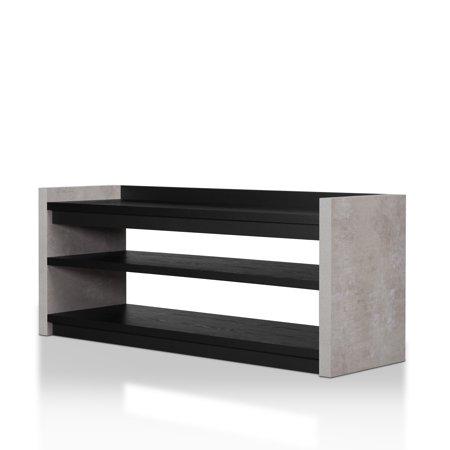 Furniture Of America Keler Cement Like 2 Shelf Shoe Cabinet