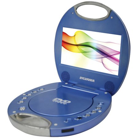 sylvania sdvd7046 blue 7 portable dvd player with integrated handle