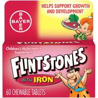 Flintstones Chewable Kids Vitamins w Iron, Multivitamin for Kids, 60Ct