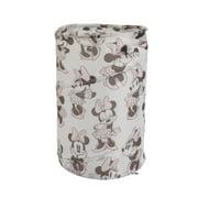Disney Minnie Mouse Round Pop-Up Hamper, Pink, White, Grey