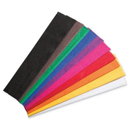 Creativity Street® Crepe Paper Fold Assortment, 10 - Crepe Paper Sheets