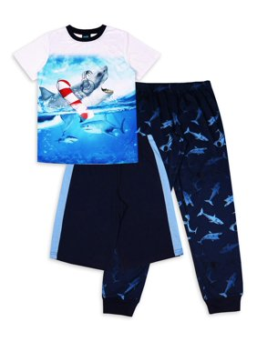 Jellifish Kids Boys 3-Piece Pajama Sleep Set (Little Boys and Big Boys)