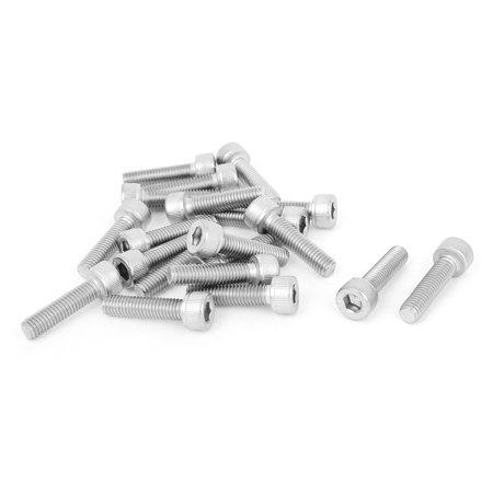 M5x20mm Stainless Steel Hex Socket Cap Screws Head Key Machine Bolts 20 Pcs - image 4 of 4