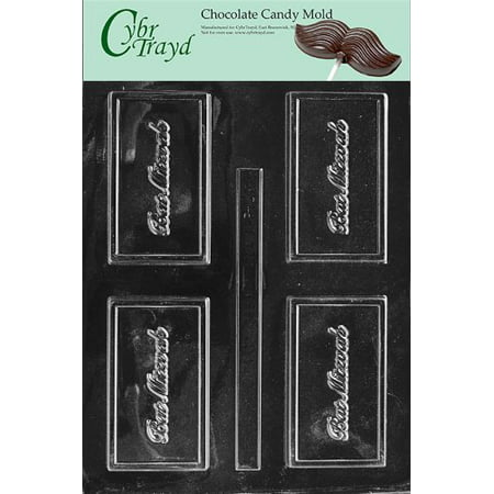 Mitzvah Chocolate (Cybrtrayd Life of the Party BC022 Bat Mitzvah Business Card Chocolate Candy Mold in Sealed Protective Poly Bag Imprinted with Copyrighted Cybrtrayd Molding Instructions)
