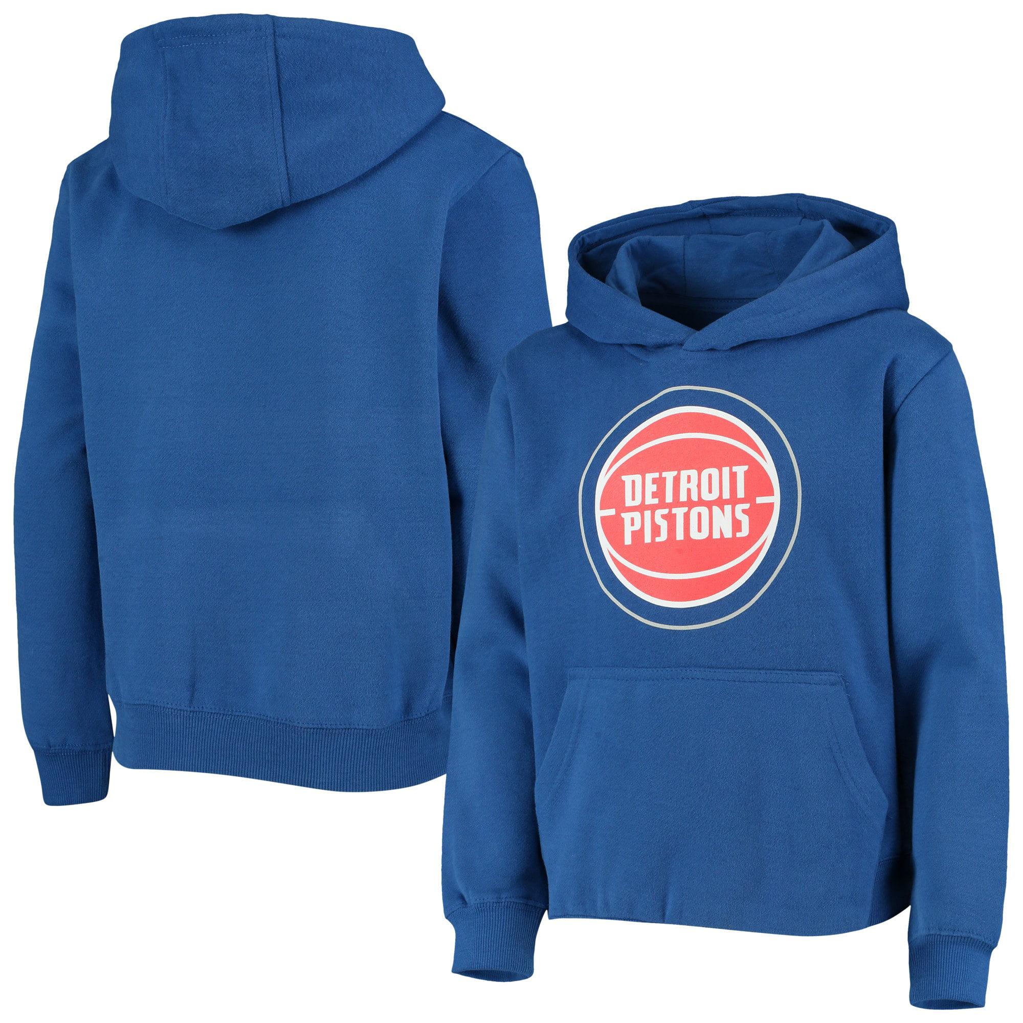 Blue OuterStuff NBA Youth Detroit Pistons Fleece Pullover Hoodie