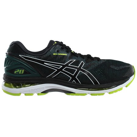 ASICS Gel Nimbus 20 Men's Running Shoe, BlackNeon Lime, 10.5 D(M) US