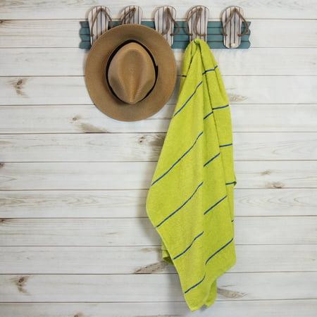 "Mainstays Stripe Beach Towel - Yellow - 27"" x 58"" - 1 Pack"