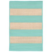 Liora Manne Terrace 1789/93 Rugby Turquoise Area Rug 23 Inches X 35 Inches