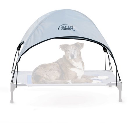 K&H Pet Products Pet Cot Canopy, Large, Gray