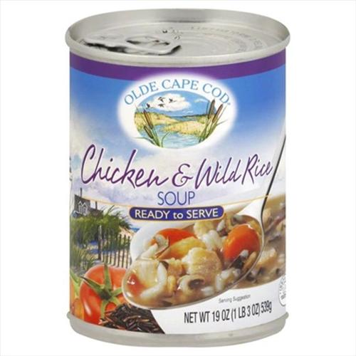 OLDE CAPE COD SOUP CHICKEN & WILD RICE-19 OZ -Pack of 12