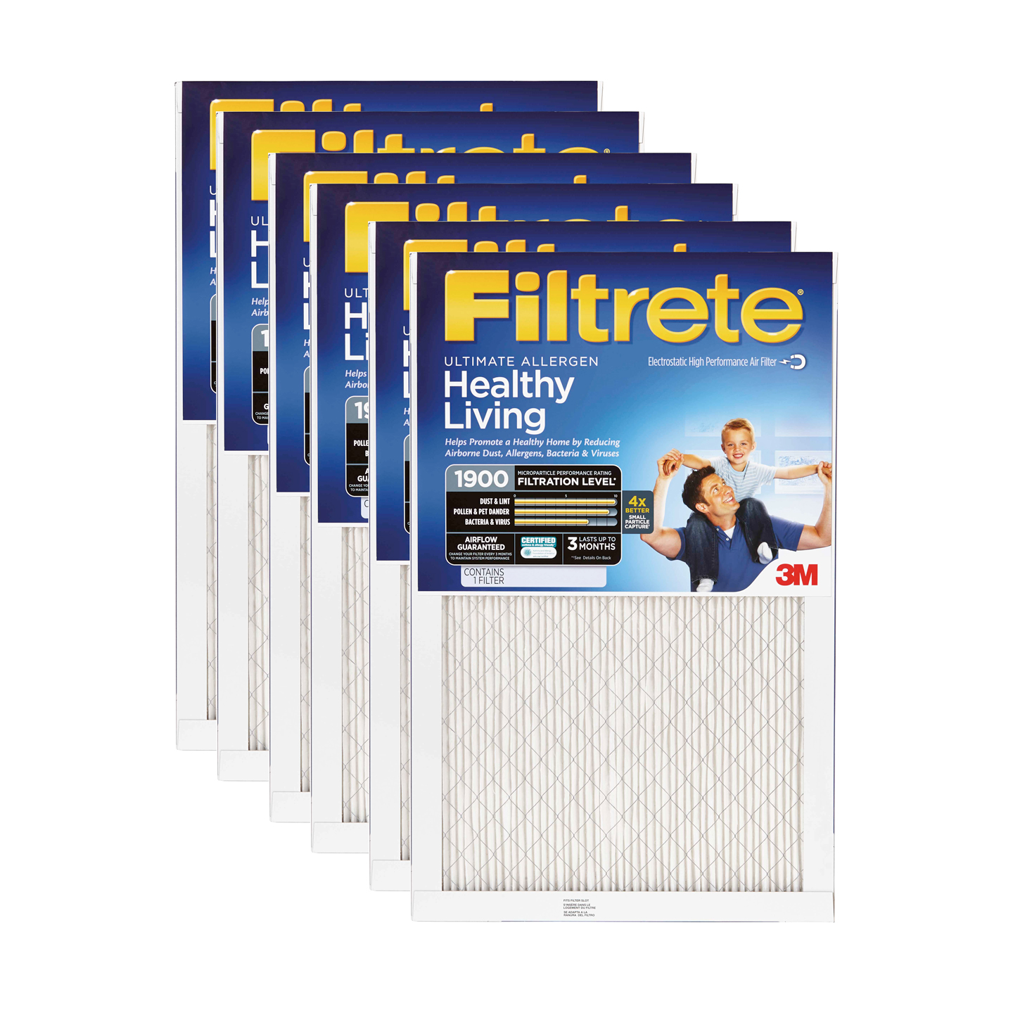 3M Filtrete 20x24x1 Ultimate Allergen Reduction Air Filter (6 Pack)