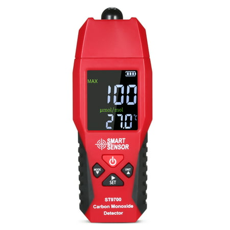 Handheld Gas Detector (SMART SENSOR ST9700 Handheld Carbon Monoxide Meter with High Precision CO Gas Tester Monitor Detector Gauge LCD Color Display Sound and Light Alarm 0-1000ppm`)