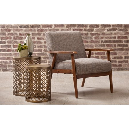 Right2Home Round Perforated Metal Brass Accent Tables - Set of 2